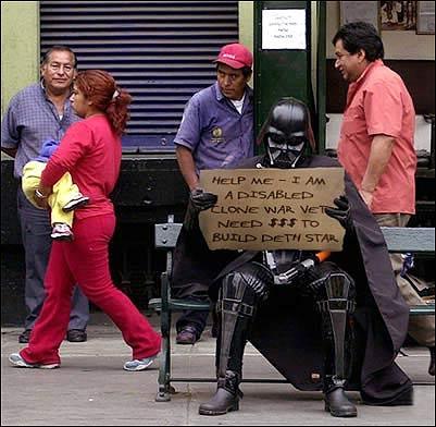 Homeless Vader